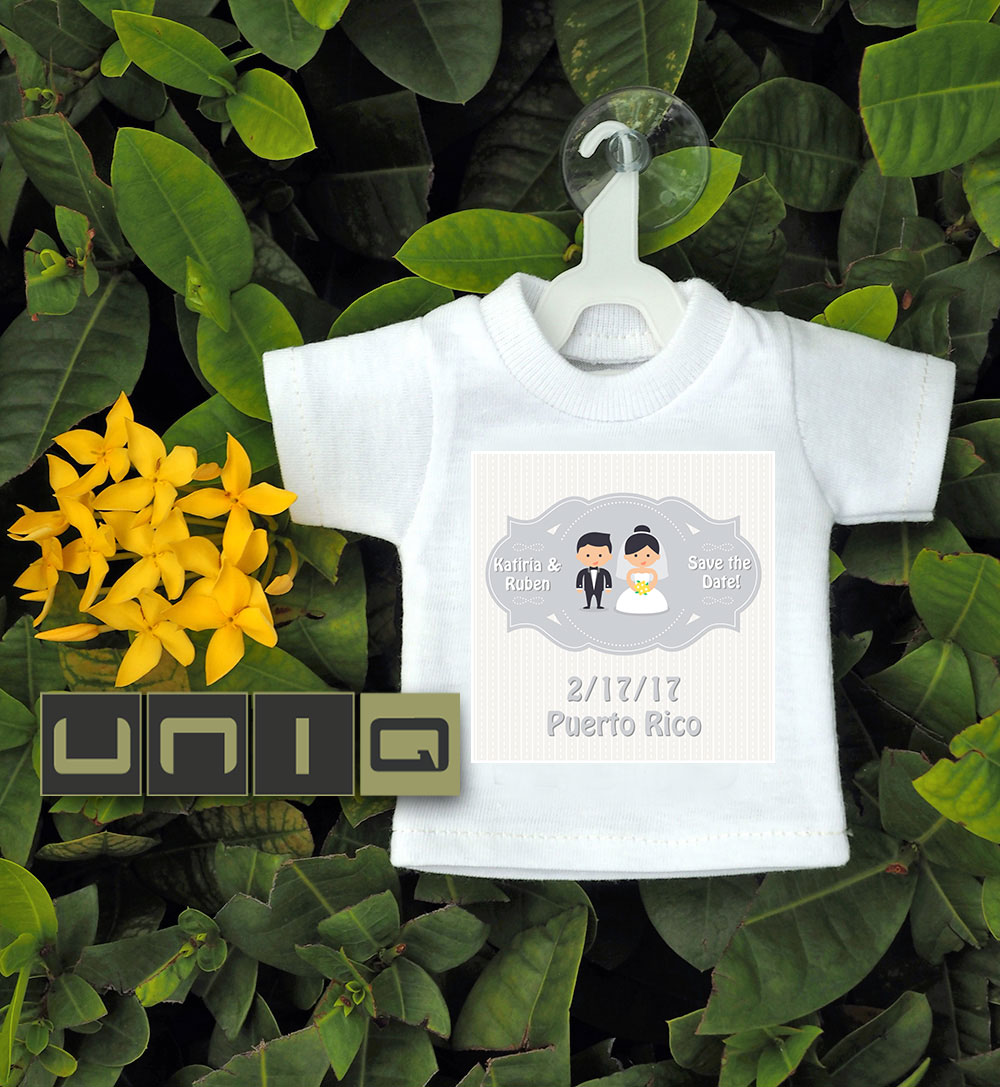 Wedding - Save the Date Mini T-shirts - 100% Cotton